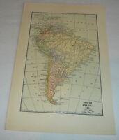 1918 map ~ SOUTH AMERICA 1914