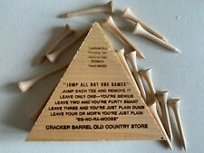 Cracker Barrel Old Fashioned Genius Jump Peg Game - Golf Tee - Tricky Triangle