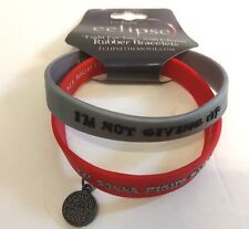 NEW NECA Eclipse - Fight For You Rubber Bracelet Jacob Wolf Charm Twilight Saga