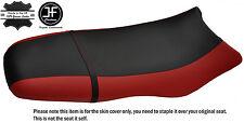 Noir & rouge foncé custom fits sea doo gsx gs rfi 96-04 vinyle housse de siège + sangle