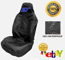ST LOGO BLUE - Car Seat Cover Protector x1 Sports Bucket / Fits FORD FIESTA ST