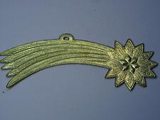 Christbaumschmuck Dresdner Pappe Weihnachtsschmuck Stern Komet Comet Star Gold