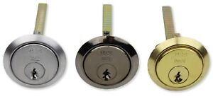 Replacement Rim Cylinder Door Lock Brass, Silver &  Black Fits Yale Style Locks