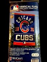 Chicago Cubs Vibrant MLB Authentic Vertical Flag New 27 x 37 Size Free Shipping
