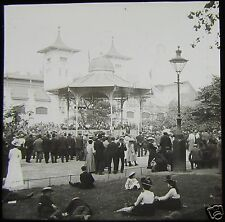 Glass Magic Lantern Slide BAND STAND GLASGOW EXHIBITION 1901 PHOTO
