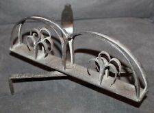 Antique PRIMITIVE Wrought Iron FIREPLACE TOASTER lot l