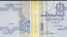 EGYPT 25 PT 2002 2003 P-57 SIG/ //M.OYUN #20 ONE BUNDLE OF X100 NOTES LOT */*