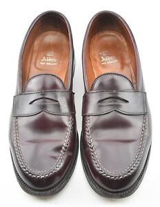 BOX & BAGS | ALDEN 11C #8 SHELL CORDOVAN LHS PENNY LOAFER SHOES 986
