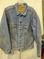 Vintage 80s LEVIS Trucker DENIM Jean JACKET Size Large 70507-4890 Made USA Faded