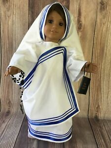 Mother Teresa   outfit  18'' handmade doll clothes to fit American girl dolls