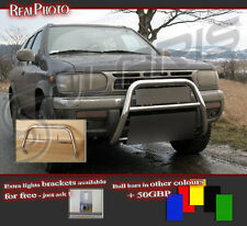 NISSAN PATHFINDER 96-99 BULL BAR WITHOUT AXLE BARS +GRATIS!!! STAINLESS STEEL!