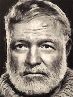 ART PRINT POSTER PAINTING PORTRAIT CELEBRATED AUTHOR ERNEST HEMINGWAY NOFL0073