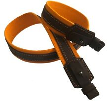 Orange Canvas Leather Wide Rifle Sling Shotgun Air Gun Strap Hunting Shooting