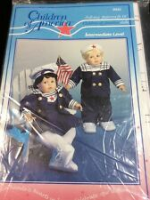 """Children Of America Sailor Suit 16"""" Doll Clothes Pattern 9832"""