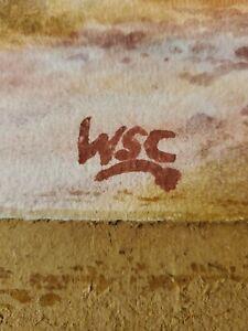 Winston Churchill Original Rare Watercolour hand signed Not A print.