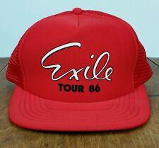 Vintage 1986 Exile Tour Concert Rock n roll Band Promo Hat Cap 80s Snap back NOS