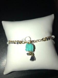 colored elephant charm bracelet 2K