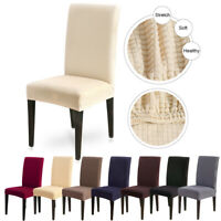 Dining Room Chair Cover Removable Washable Slipcovers Knit Stretch Seat Cover US