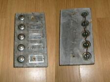 5 bouton poussoir de sonnette  sur support marbre - Ancienne