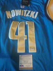 DIRK NOWITZKI Signed Autographed Dallas Mavericks  Jersey. Future HOF.