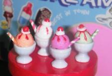 4 Different Sorbert Ice Cream Sundae fits Fisher Price Loving Family Dollhouse