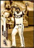 Jose Abreu 2020 Topps Short Print Variations 5x7 Gold #674 /10 White Sox