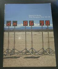 1998 Depeche Mode Large Concert Program Singles 1986 98 Tour Book Personal Jesus