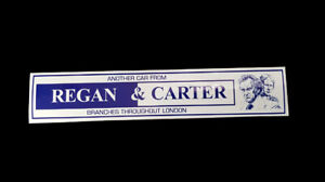 Regan and Carter Dealer Sticker - Ford Granada Consul Escort Capri Mk1 Sweeney