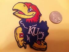 "KU Kansas Jayhawks Vintage RARE Embroidered Iron On Patch 3"" x 3 MADE IN THE USA"