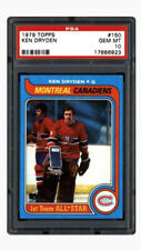 1979 Topps Ken Dryden Perfect, PSA 10 + Retirement Card better than his Rookie
