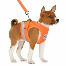 DOG VEST Harness Bright Orange with Leash Set, Size XL, Soft, Reflective