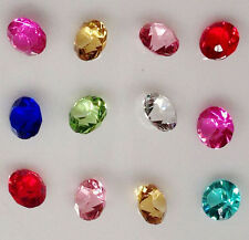 NEW 100Pcs 6mm Mix Birthstone Crystal Floating Living Memory Glass Lockets Charm