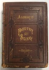 A Library Of Poetry And Song 1872 Hardback William C Bryant PreownedBook.com