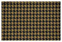 """Spl Brown and Black Houndstooth Canvas Tweed Fabric 55""""W Seat Upholstery Auto"""