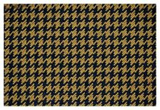 Brown and Black Houndstooth Canvas Tweed Fabric 55