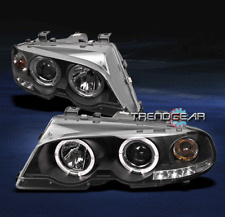 2000-2003 BMW E46 3 SERIES 2DR/2001-2006 M3 HALO LED PROJECTOR HEADLIGHTS BLACK