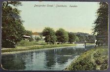 Stockholm Sweden Postcard Deer Garden Canal Deergarden