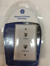 GE Network and Phone Jack 10 Pack