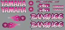 Banshee Decals PINK airbrush style Stickers Graphics 14pc ATV QUAD