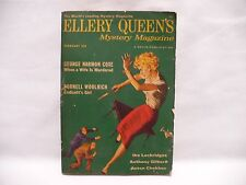 ELLERY QUEENs Mystery Magazine Febuary 1958 Vol. 31, No. 2, g. coxe, c. woolrich