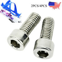 2PCS/4PCS Stainless Steel MTB Bike Water Bottle Cage Holder Screw Silver Screws