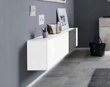 Credenza A Muro Moderna : Mensola da muro moderna curva in vetro e legno