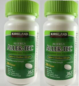 Kirkland Allergy Aller-Tec 10mg 365 Tablets x 2