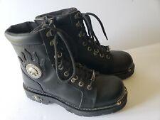 New Harley-Davidson D94169 Men's Diversion Black Leather Boots sz 8 USA