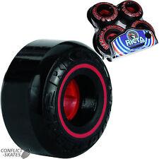 """RICTA """"Speedrings"""" Skateboard Wheels 52mm 81b BLACK Street Park Ramp Speed Rings"""