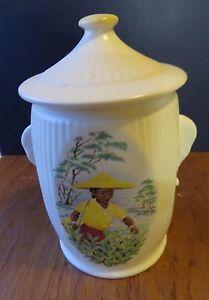 Vintage Sylvac tea caddy with Elephant Ears - **New Price**