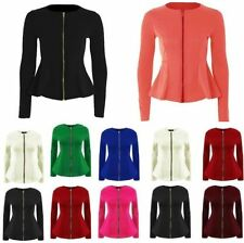 Peplum Casual Coats & Jackets for Women