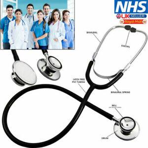 Medical EMT Dual Head Stethoscope for Pro Nurse Doctor Vet Student Health UK