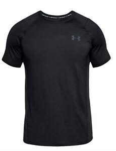 Under Armour Men's T-Shirt, Size M, Black UA Tech Short Sleeve Tee