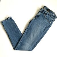 AG Adriano Goldschmied Womens The Stevie Ankle Slim Straight Jeans Blue Size 27